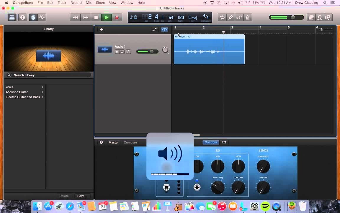 garageband how to stop recording