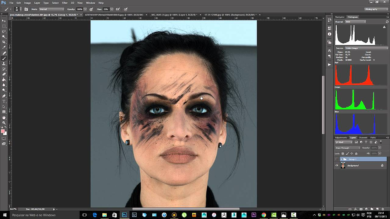 Painting a Realistic Skin Texture Using Mari Lesson 02 Cleaning