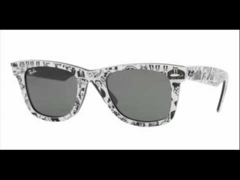 c3bf7ae3f8b Ray Ban Wayfarer Top Comics on Black RB 2140 1047 Sunglasses - YouTube