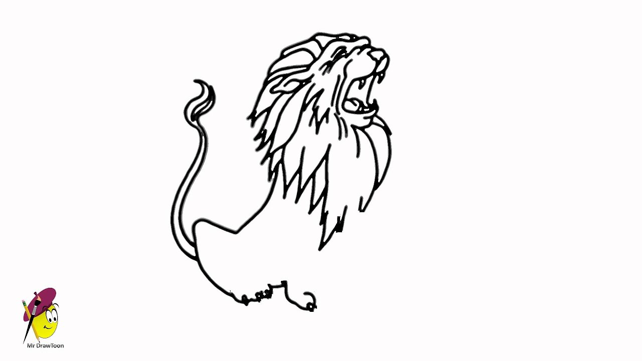 Roaring Lion - The King of Forest - How to draw a Lion ... - photo#20