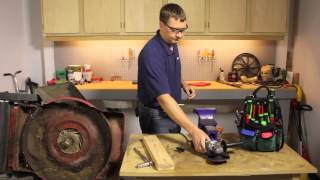 How to Sharpen the Blade of a Push Lawnmower : Lawnmower Maintenance & Repair