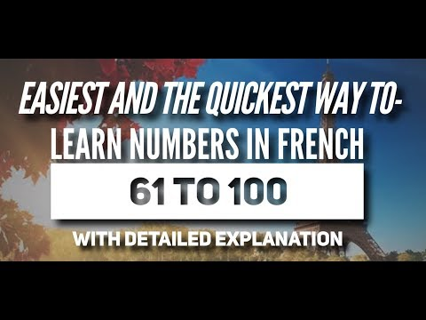 French for beginners - Numbers in French 61-100 | Quick and easy method of learning French