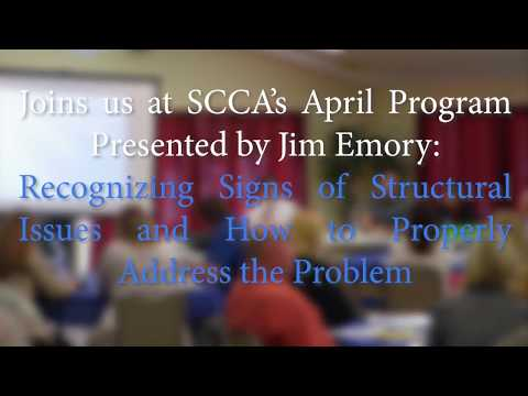 Structural Engineer Jim Emory - Keystone - SCCA Announcement Recognizing Signs of Structural Issues