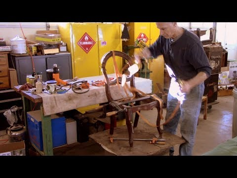Carving and Coloring an Antique Victorian Chair - Thomas Johnson Antique Furniture Restoration