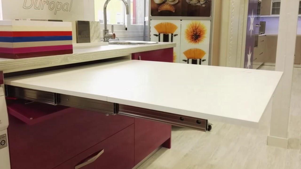 Mesa extensible mueble de cocina a medida fabricantes for Mesas de cocina extensibles con cajon