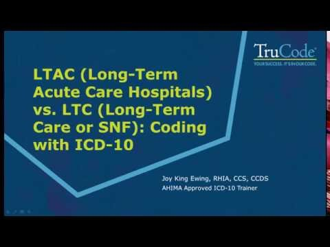 Coding Issues for the Long-Term Acute Care & Skilled Nursing Facility Settings