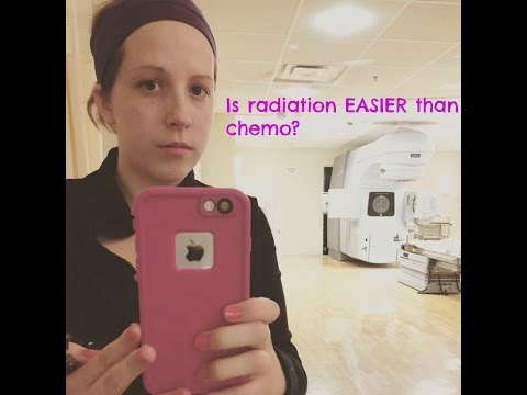 Is radiation easier than chemo?