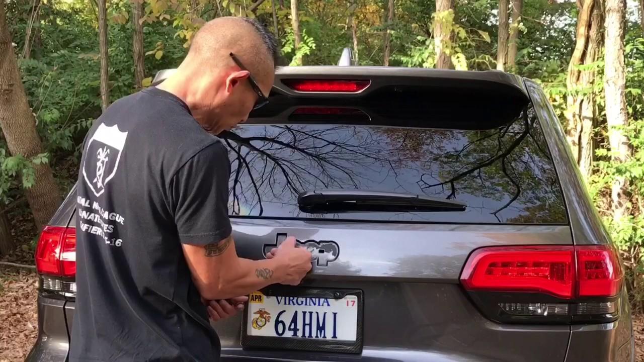 Debadging Jeep Grand Cherokee Srt Rear Jeep Emblem Youtube