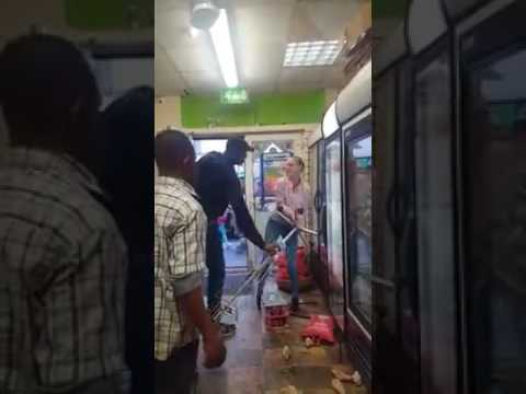Another Video of Irish Woman destroying products in a Nigerian shop in Dublin