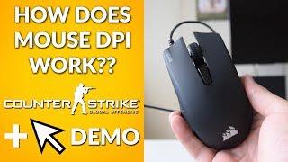 How Does Mouse DPI Work? (250 vs 1000 vs 3000 vs 6000 dpi Mouse Cursor and CSGO DEMO)