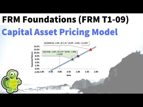 Capital Asset Pricing Model (CAPM, FRM T1-9)