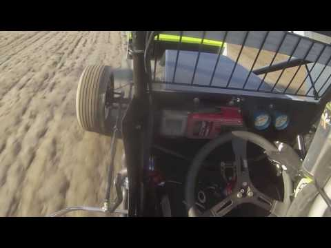 In-Car Video Carl Bowser - I-96 Speedway Sprint Car Heat Race - July 3, 2016