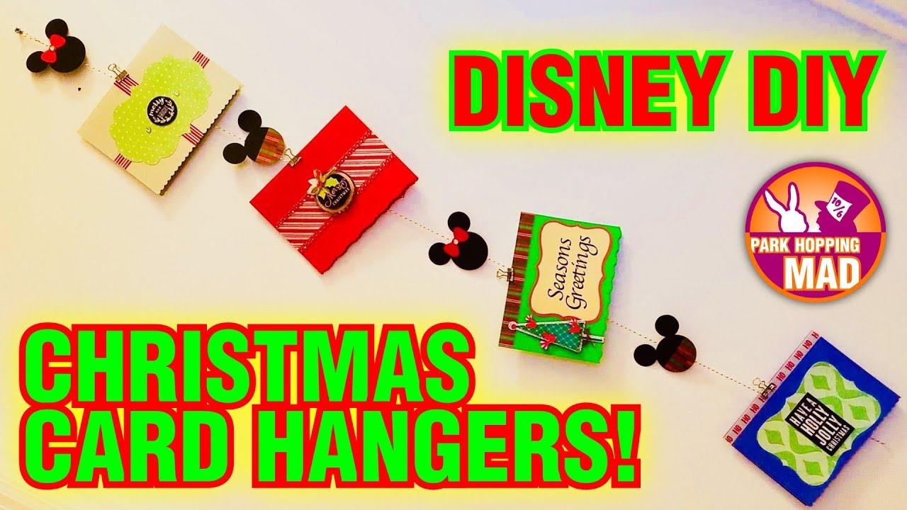 Disney DIY   Christmas Card Hanger! - YouTube