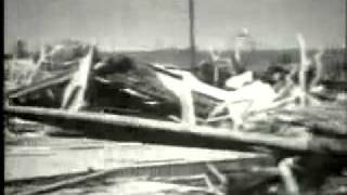 This is recently discovered tornado video footage from the woodward of april 9th, 1947, old archives located in storage.