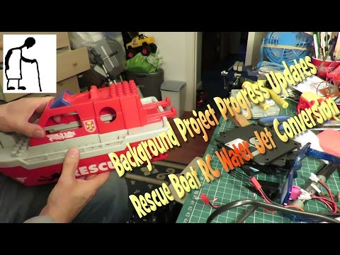 Background Project Progress Updates - Rescue Boat RC Water Jet Conversion