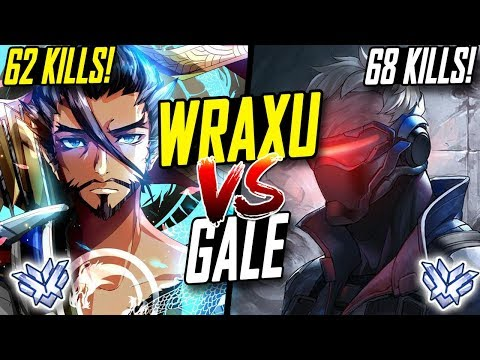 [RANK 1] WRAXU INSANE HANZO (62 KILLS!) VS GALE BEST SOLDIER 9 (68 KILLS) WHO'S BEST? [ OVERWATCH ]