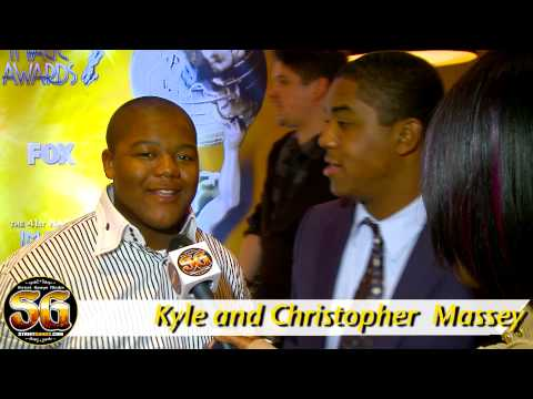 Christopher and Kyle Massey  at NAACP announcements