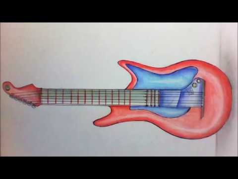 Como Dibujar Una Guitarra Electrica Youtube