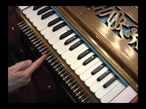 Placement of 22 Shrutis in a Harmonium