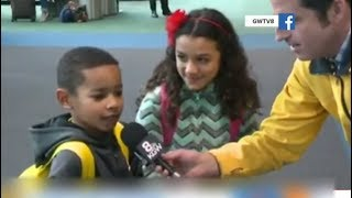 Today Show - Drew interviews Lester Holt fan kid