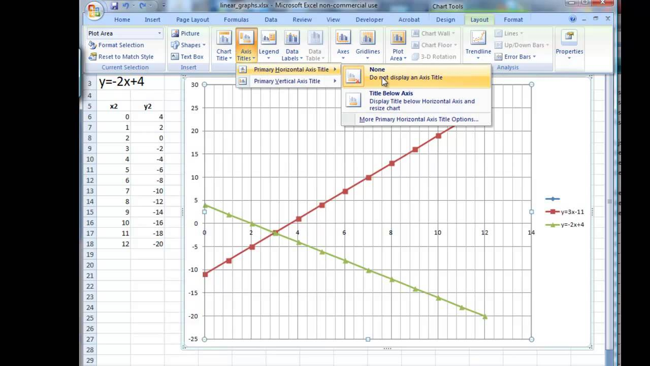 Drawing Lines Using Y Mx C : Of linear simultaneous equations excel matices