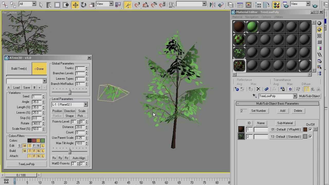 AvizStudioTools - ATree3D Low Poly Tree