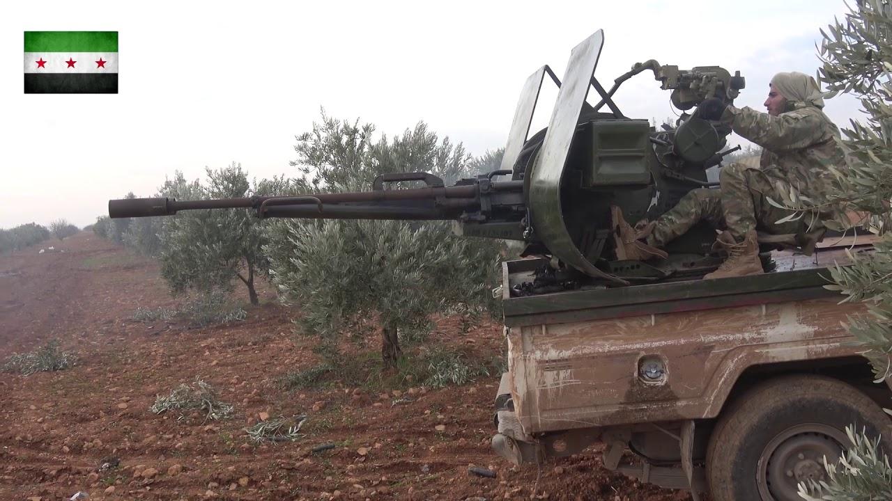 جيش إدلب الحر   استهداف قوات الاسد بالرشاشات الثقيلة على جبهة الخوين بريف إدلب الجنوبي