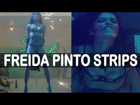 Freida Pinto Strips For Bruno Mars' 'Gorilla'