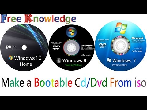How To Make A Bootable Cd/dvd  From Iso File Without Any Software In Hindi/urdu