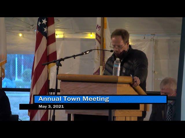 Annual Town Meeting 5-3-21