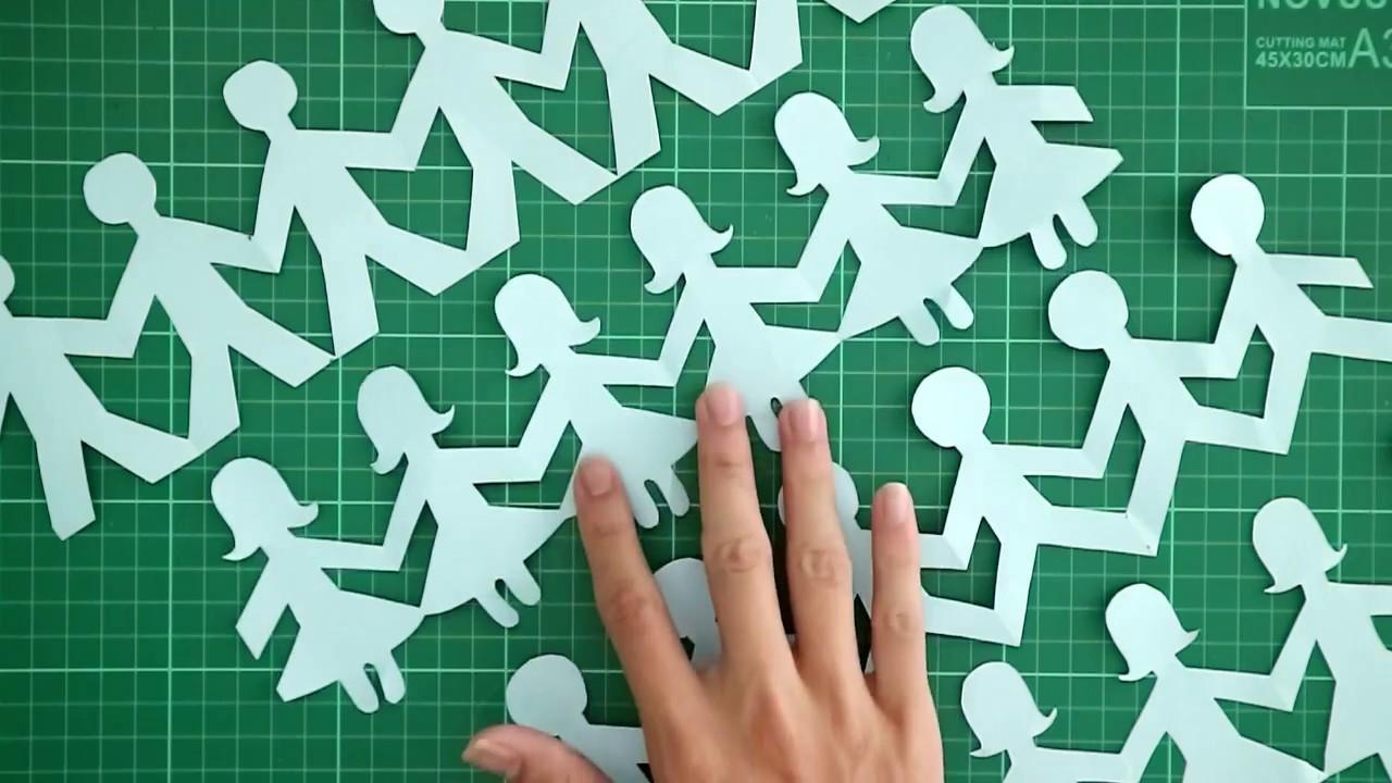 Cara Membuat Orang Bergandengan Tangan Dari Kertas People