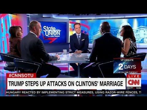 Trump accuses Hillary Clinton of cheating on Bill Clinton