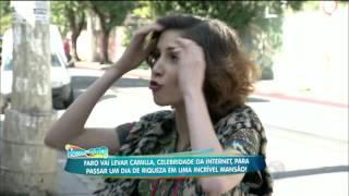 Rica! Camilla Uckes banca a sofisticada e passa o dia com a milionária Cozete Gomes