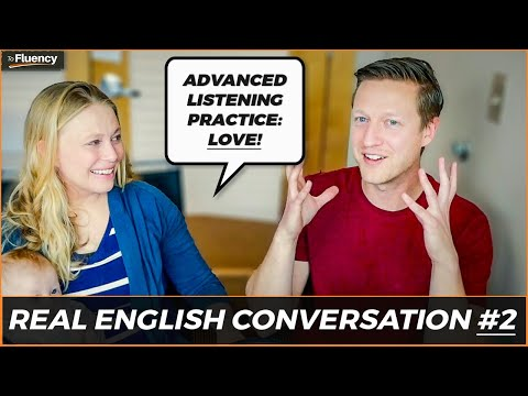 Advanced English Conversation Lesson #2: Love ❤️ (learn real English w/ subtitles)