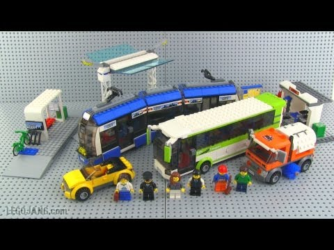 8404 public transport is a city traffic set that was released in august 2010. It contains a tram, a white and lime green bus, an orange street sweeper, a yellow.