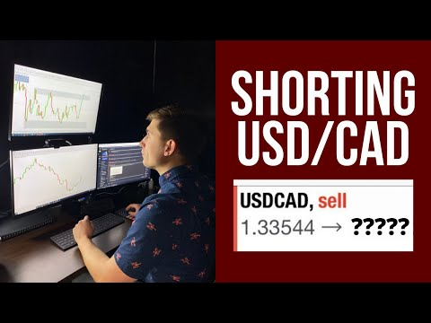 Live Forex Trading: Selling USD/CAD On The Break | Forex Trade Breakdown!