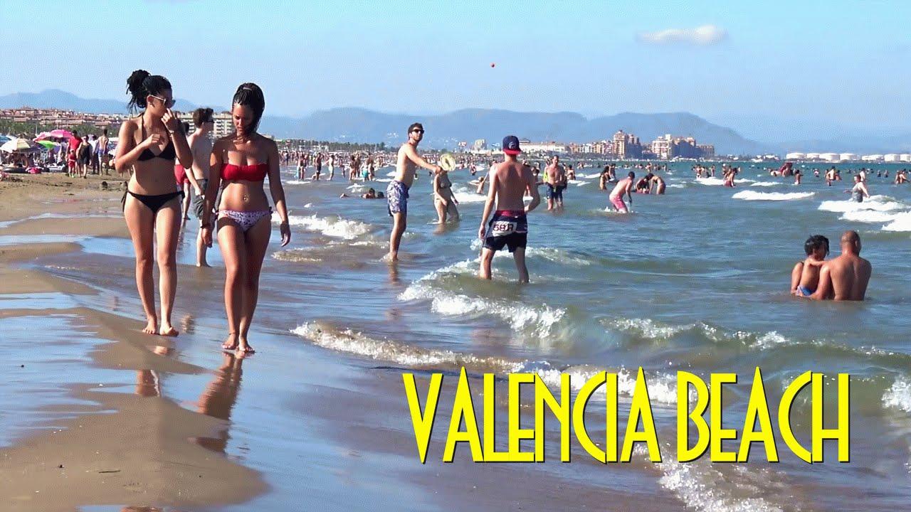 Valencia Beach Malvarrosa And El Cabanyal Las Arenas Spain