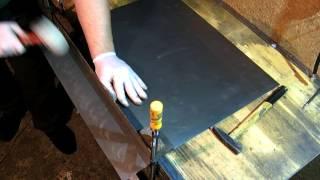 Как ровно загнуть стальной лист без листогиба(Гиб стального, холоднокатанного, листа стали 08КП толщиной 0,8 мм без листогиба. Для загиба на 90 градусов испо..., 2015-11-04T13:04:15.000Z)