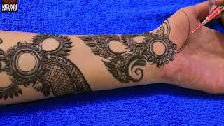 Romantic Mehndi Design For Hands | Step by Step Modern Bride Mehendi Design |  MehndiArtistica #1030