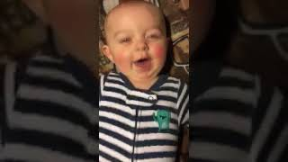 """Cutest little boy Saying """"Dada"""" Too cute not to share"""