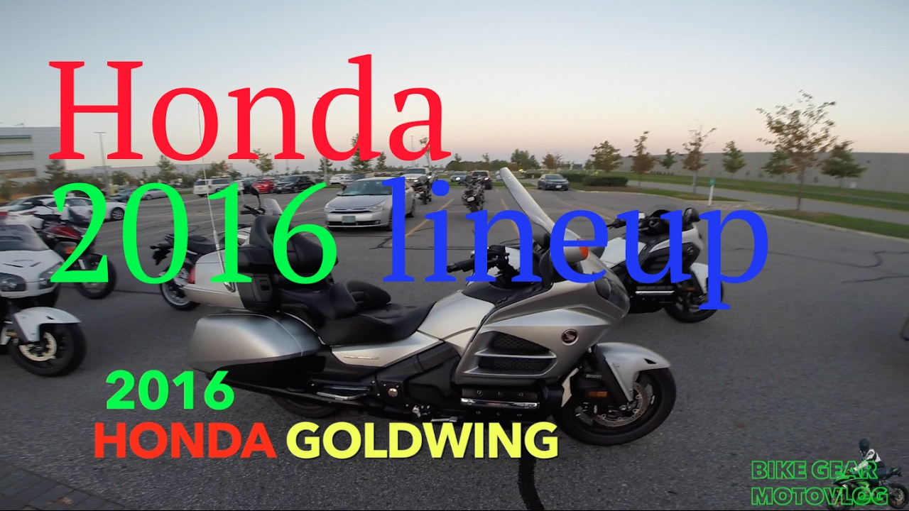 2016 Honda Motorcycle Lineup Test Ride