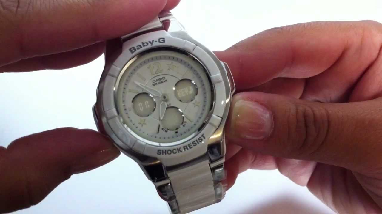 Casio Baby-G Analog Digital - Gemmy Watch BGA120C-7B1 - YouTube 115284b8762c
