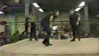 Dangerous Donnie vs brian Danzig 1994 ICW Pro Wrestling action