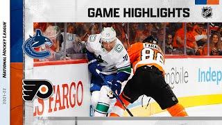 Canucks @ Flyers 10/15/21