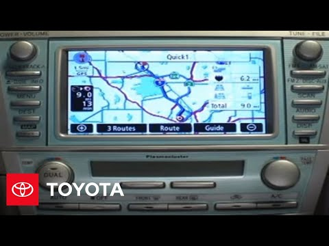 2007 - 2009 Camry How-To: Navigation System - Destination Using Point of Interest | Toyota