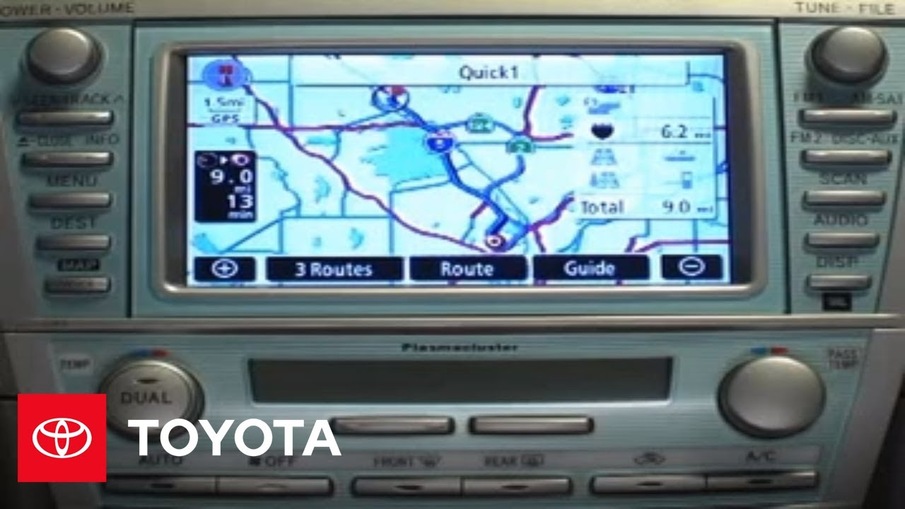 2007 2009 Camry How To Navigation System Destination Using Point Of Interest Toyota