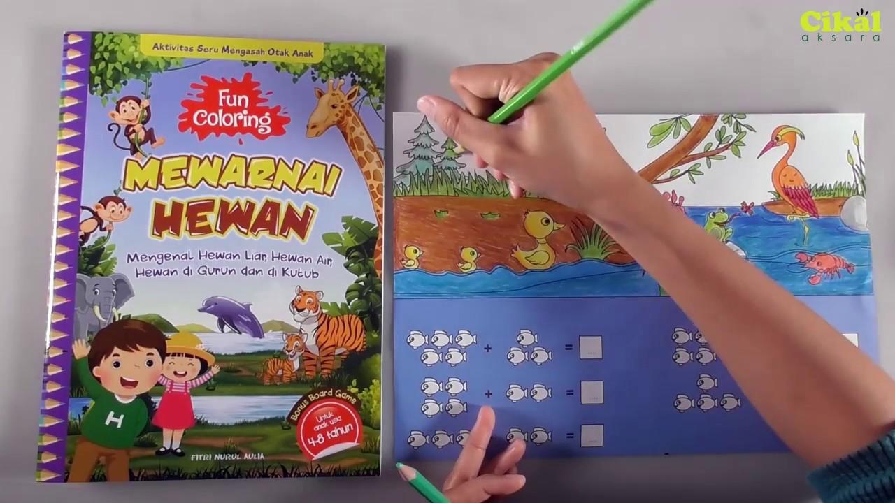 Mewarnai Hewan Dan Pemandangan Dengan Pensil Warna Buku Fun Coloring