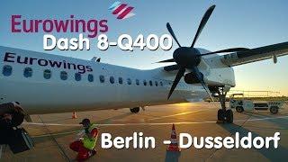 ✈TRIP REPORT | Eurowings (Economy) | Berlin Tegel - Düsseldorf | Dash8 Q400