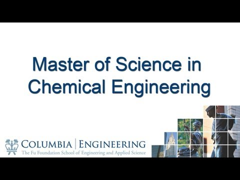 Master of Science in Chemical Engineering