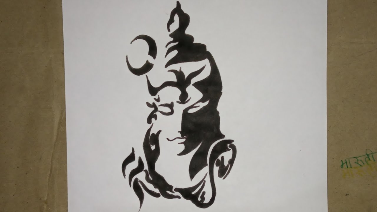 How to draw mahakal tattoo